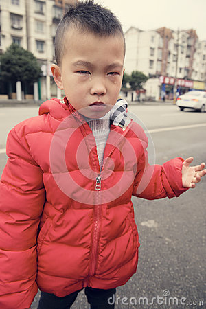Free Sad Kid Stock Image - 65292721