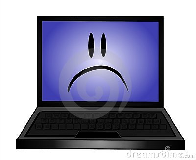 clip art sad faces. SAD LAPTOP COMPUTER CLIP ART