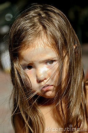 Free Sad Little Girl Stock Image - 1031171
