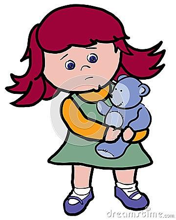 Sad Little Girl Stock Photography - Image: 14567432