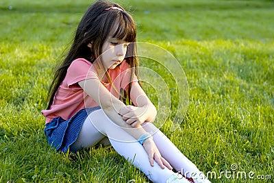 Sad Little Girl. Royalty Free Stock Photo - Image: 1585505