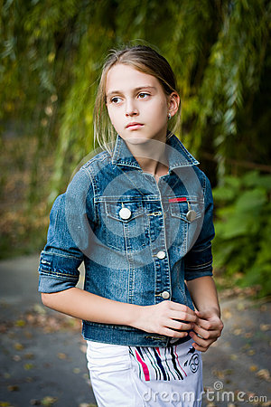 Free Sad Little Girl With Big Eyes. Stock Photography - 40145552