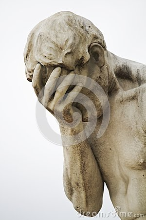 Free Sad Male Statue Stock Images - 105999114