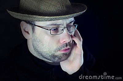 Sad Man Look Stock Images - Image: 22882584