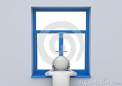 Sad man by the window - Lifestyle