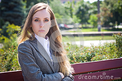 Sad Office Worker (woman) Royalty Free Stock Image - Image ...