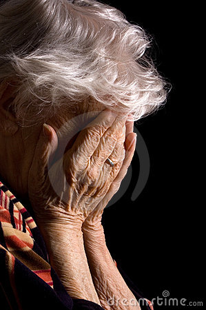 Free Sad Old Women Royalty Free Stock Photos - 18890358