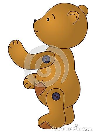 Free Sad Patched Teddy-bear Stock Photos - 14429253