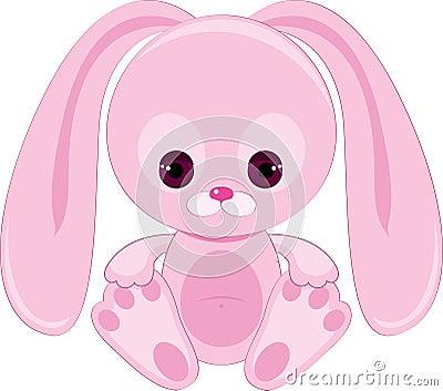 Sad pink bunny