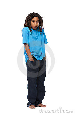 Sad rasta kid