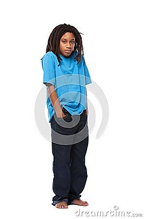Free Sad Rasta Kid Stock Image - 22152041