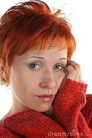 Free Sad Red Haired Woman Stock Photos - 5204373