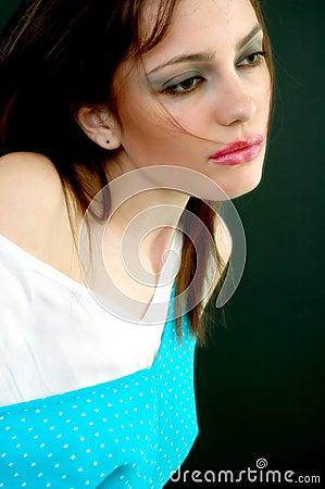 Sad but Seductive Young Girl