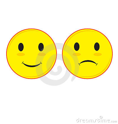 Sad and Smiling Face