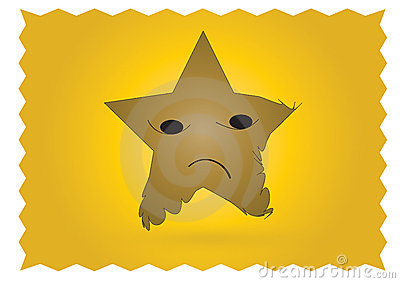 Sad star character