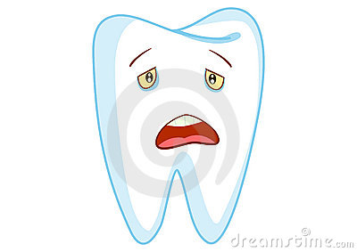 Sad Tooth Cartoon Character Illustration