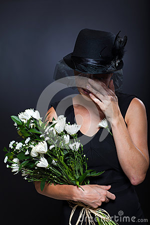 Widow Crying Funeral Royalty Free Stock Photos Image