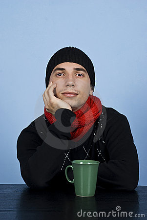 Free Sad Winter Man Stock Photography - 12049582
