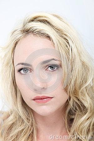 Sad woman with beautiful eyes