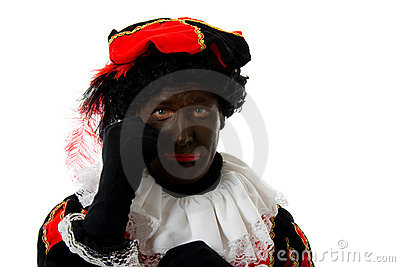 Sad Zwarte Piet ( black pete) typical dutch