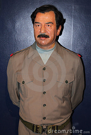 Saddam Hussein at Madame Tussaud s Editorial Image