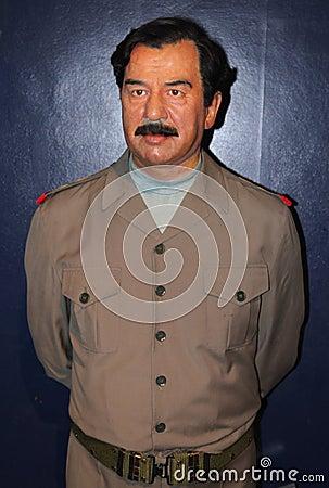 Saddam Hussein at Madame Tussaud s Editorial Image