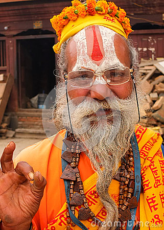 Saddhu, Pashupatinath, Nepal Editorial Photo