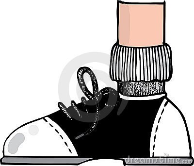 Saddle shoe cartoon