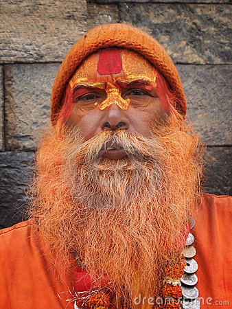 Sadhu, also known as holy man Editorial Stock Photo