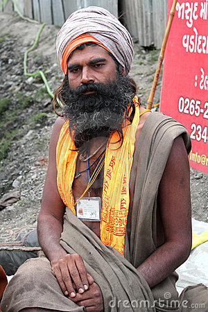 A Sadhu Baba Editorial Stock Photo