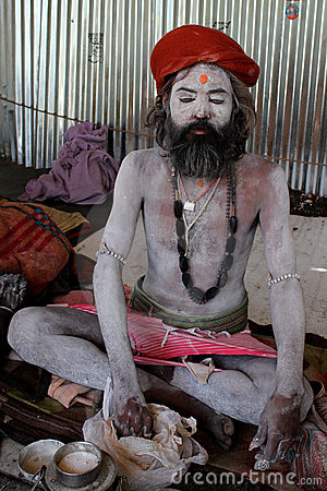 A Sadhu Baba Editorial Photo