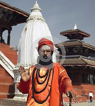 Sadhu - Durbar Square - Kathmandu - Nepal Editorial Photo