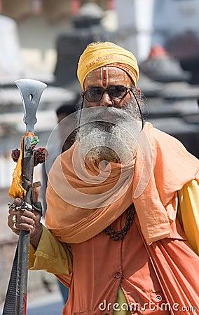 Sadhu (holy man) Editorial Photography