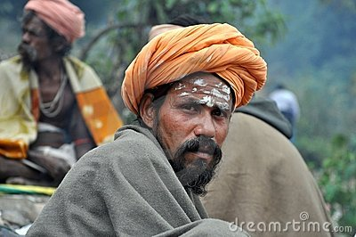 Sadhu (holy man) from India Editorial Photography