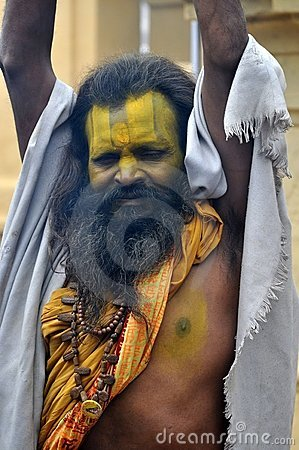 Sadhu (holy man) from India Editorial Photo