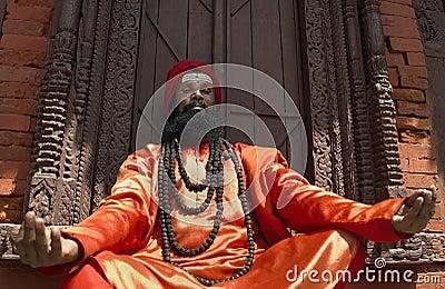 A Sadhu (holy man) in Kathmandu - Nepal Editorial Image