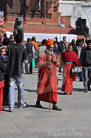 Sadhu (holy man) in Kathmandu, Nepal Editorial Stock Image