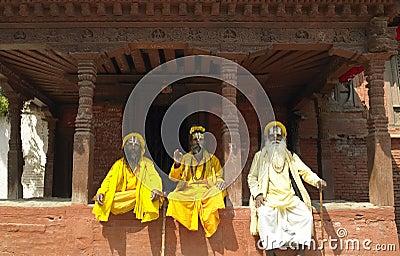 Sadhu - Holy Men - Kathmandu - Nepal Editorial Stock Photo