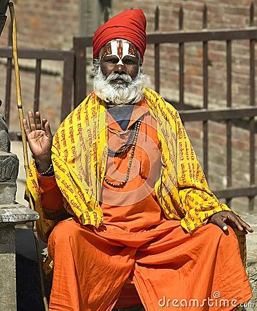 Sadhu - Kathmandu in Nepal Editorial Image
