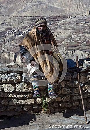 Sadhu pilgrim in Muktinath, Nepal Editorial Stock Image