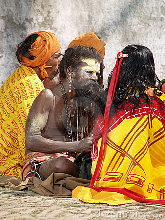 Sadhu santo nel Nepal Immagine Stock Editoriale