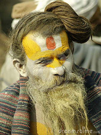 Sadhu in Shivaratri in pashupatinath Temple Editorial Image