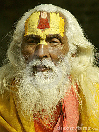 Sadhu in Shivaratri in pashupatinath Temple Editorial Stock Photo