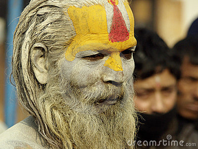 Sadhu in Shivaratri in pashupatinath Temple Editorial Photography