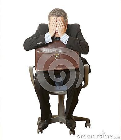 Sadness businessman