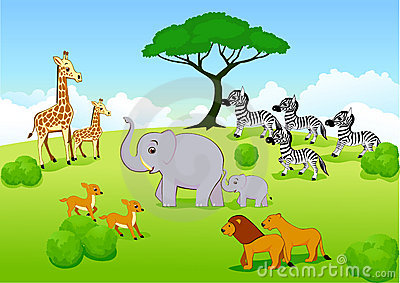 Safari Africa Cartoon