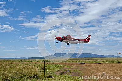 Safari Air Express Plane Editorial Stock Image