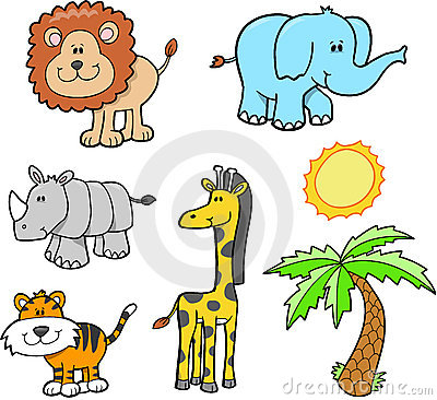 Free Safari Animal Set Stock Images - 4162474
