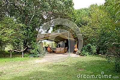 Safari camp lounge tent