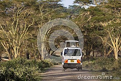 Safari Car In Kenya, editorial